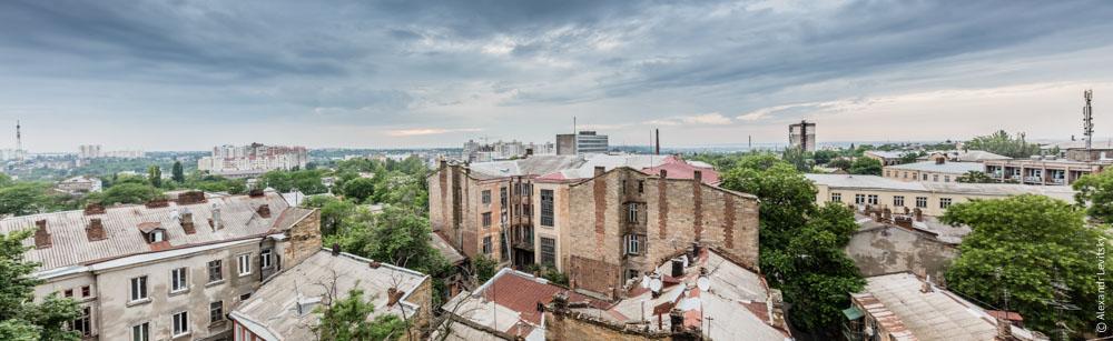 Вид на город в Одессе, Украина