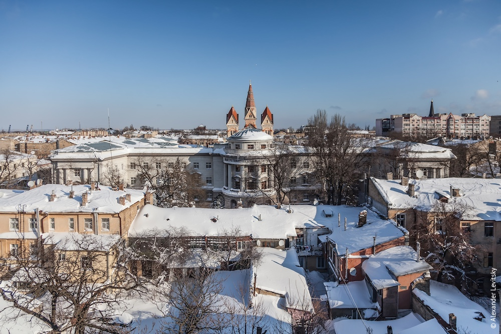 Украина, Одесса. Город в снегу